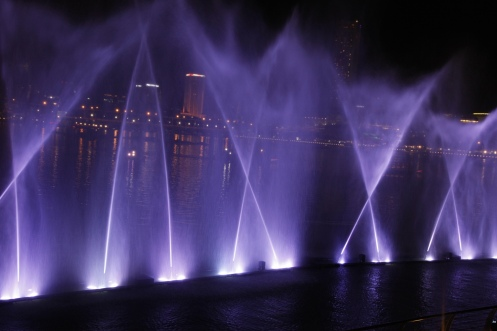 Light and water show