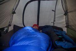 Ontwaken in de tent...