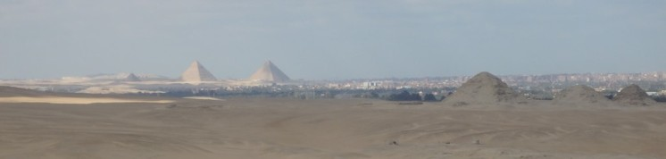 Gizeh seen from Saqquara