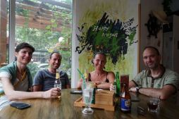 The 5 of us... Lieve, Jeroen, Karen, Boris (L to R) and me (behind the camera)